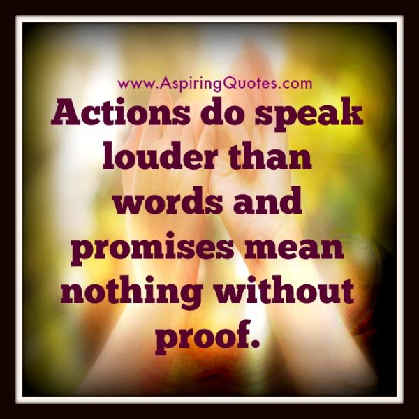 Promises mean nothing without proof