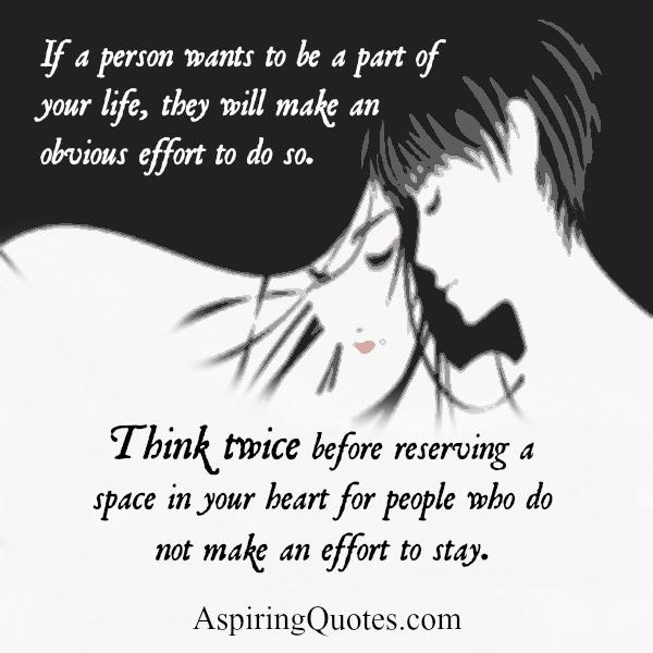 Think twice before reserving a space in your Heart for someone you love