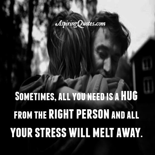 Sometimes, all you need is a hug