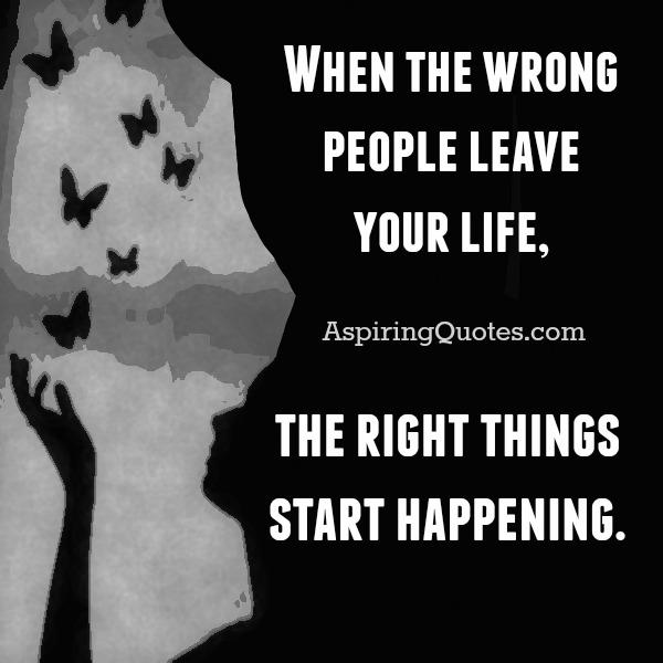 When the right things start happening in your life?