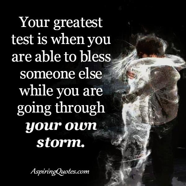 Your Greatest test in your Life