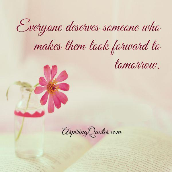 Everyone deserves someone