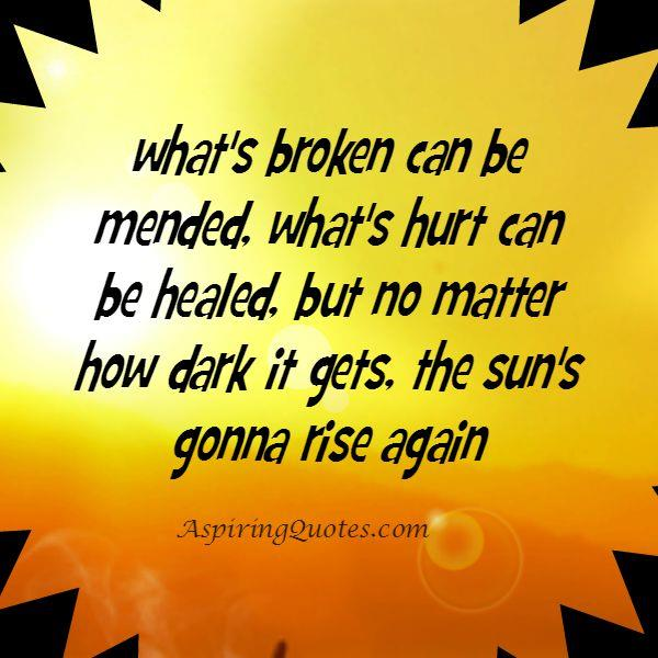 What's hurt you can be healed