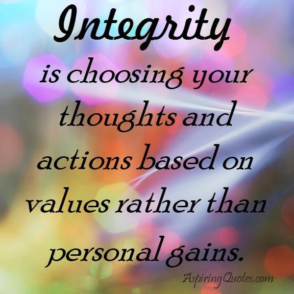 Choose your thoughts and actions based on values