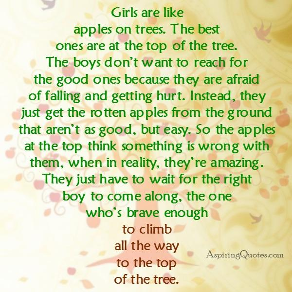 Girls are like apples on the tree