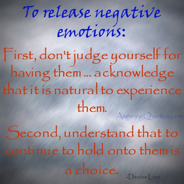 How to release negative emotions?